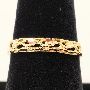 14k Eterna yellow gold band ring 9